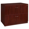 "Lorell Essentials Lateral File - 35.5"" x 22"" x 29.5"" - 2 x File Drawer(s) - Finish: Laminate, Mahogany"