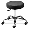 Lorell Round Stool - 250 lb Load Capacity - Black