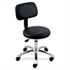 "Lorell 16"" Round Seat Pneumatic Height Stool - 250 lb Load Capacity - Black"