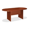 "Lorell Essentials Conference Table - Oval Top - 72"" Table Top Length x 70.88"" Table Top Width x 35.38"" Table Top Depth x 1.25"" Table Top Thickness - 29.50"" Height Width - Assembly Required - Cherry, L"