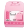 "OIC Breast Cancer Awrnss Designer Clipboard - 0.50"" Clip Capacity - 9.10"" x 13.75"" - Plastic - Pink"