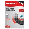 "Industrias Kores Paper Carbon - 8.50"" x 11"" - 100 / Box - Black"