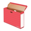 "Bankers Box Bulletin Board Storage Boxes - Internal Dimensions: 18.13"" Width x 7.13"" Depth x 27.88"" Height - External Dimensions: 28.6"" Width x 7.5"" Depth x 19.1"" Height - 50 lb - Flip Top Closure - C"