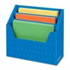 "3 Compartment Folder Holders - 3 Compartment(s) - Compartment Size 9"" x 12.50"" x 1.50"" - 12"" Height x 13.8"" Width x 5.6"" Depth - Desktop - Recycled - Blue - Corrugated Paper - 6 / Carton"