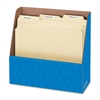 "Folder Holders - 1 Compartment(s) - Compartment Size 11"" x 11.75"" x 4.50"" - 11.3"" Height x 5"" Width x 12.1"" Depth - Desktop - Recycled - Blue - Corrugated Paper - 12 / Carton"
