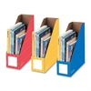 "Bankers Box 4"" Magazine File Holders - Yellow, Blue, Red - 3 / Pack"