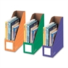 "4"" Magazine File Holders - Orange, Green, Purple - 3 / Pack"