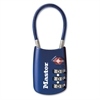 Master Lock TSA-accepted Cable Lock - Resettable - 3-digit Combination Lock - Blue - Metal