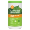 "Seventh Generation Lemongrass Scented Disinfecting Wipes - Wipe - Lemongrass Citrus Scent - 7"" Width x 8"" Length - 70 / Canister - 70 / Each"
