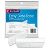 "Smead Easy Slide Tab - 0.50"" Tab Height x 3.50"" Tab Width - Clear Polypropylene Tab - 18 / Pack"