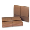 "Leather-Like Expanding Wallets with Elastic Cord - 5 1/4"" Folder Capacity - Letter - 8 1/2"" x 11"" Sheet Size - Recycled - 10 / Box"