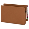 """Extra Wide 100% Recycled End Tab Redrope Pockets - Legal - 8 1/2"""" x 14"""" Sheet Size - 3 1/2"""" Expansion - Redrope - Redrope - Recycled - 25 / Box"""