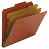 "Nature Saver Kraft Div Recycled Classifctn Folders - Letter - 8 1/2"" x 11"" Sheet Size - 6 Fastener(s) - 2"" Fastener Capacity for Folder, 1"" Fastener Capacity for Divider - 2 Divider(s) - 25 pt. Folder"