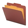 "Nature Saver Classification Folder - Legal - 8 1/2"" x 14"" Sheet Size - 4 Fastener(s) - 2"" Fastener Capacity for Folder, 1"" Fastener Capacity for Divider - 1 Divider(s) - 25 pt. Folder Thickness - Pres"