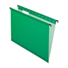 "SureHook Reinforced Hanging File Folder - Letter - 8 1/2"" x 11"" Sheet Size - 1/5 Tab Cut - Bright Green - 20 / Box"