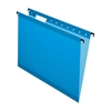 "Pendaflex SureHook Reinforced Hanging File Folder - Letter - 8 1/2"" x 11"" Sheet Size - 1/5 Tab Cut - Blue - 20 / Box"