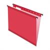 "Pendaflex SureHook Reinforced Hanging File Folder - Letter - 8 1/2"" x 11"" Sheet Size - 1/5 Tab Cut - Red - 20 / Box"
