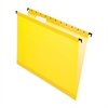 "Pendaflex SureHook Reinforced Hanging File Folder - Letter - 8 1/2"" x 11"" Sheet Size - 1/5 Tab Cut - Yellow - 20 / Box"