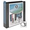"Business Source Basic D-Ring View Binders - 2"" Binder Capacity - Letter - 8 1/2"" x 11"" Sheet Size - D-Ring Fastener - Polypropylene - Black - 1 Each"