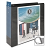"Business Source Basic D-Ring View Binder - 3"" Binder Capacity - Letter - 8 1/2"" Sheet Size - D-Ring Fastener - Polypropylene - Black - 1 Each"