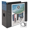 "Basic D-Ring View Binder - 5"" Binder Capacity - Letter - 8 1/2"" x 11"" Sheet Size - D-Ring Fastener - Polypropylene - Black - 1 Each"