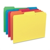 "Business Source 1/3-cut Colored Interior File Folders - Letter - 8 1/2"" x 11"" Sheet Size - 1/3 Tab Cut - Assorted Position Tab Location - 11 pt. Folder Thickness - Assorted - Recycled - 100 / Box"