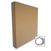 "Recycled Binder - 1"" Binder Capacity - 3 x Ring Fastener(s) - Chipboard - Brown Kraft - Recycled - 1 / Each"