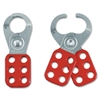 Master Lock Steel Lockout Safety Hasps - 6 Lock Support - Steel Shackle - Red