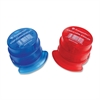 PenAgain Staple-less Stapler - 3 Sheets Capacity - Red, Blue