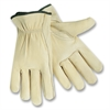 MCR Safety Driver Gloves - Medium Size - Leather - Cream - 2 / Pair