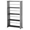 "Mayline Eastwinds - Accent Shelving - 58"" Height x 31.3"" Width x 11"" Depth - Anthracite - Steel - 1Each"