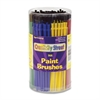 Classroom Brush Canister - 144 Brush(es) - Plastic Handle - Assorted