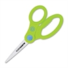 "KleenEarth Kids Scissors - 5"" Cutting Length - Pointed - Straight-left/right - Stainless Steel - Assorted"