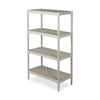 "Ventilated Storage Shelf - 36.3"" x 18.1"" x 60.3"" - 4 x Shelf(ves) - 600 lb Load Capacity - Oyster Gray"
