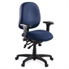 "Lorell High Performance Task Chair - Blue Seat - Blue Back - Metal Frame - 5-star Base - 20"" Seat Width x 20"" Seat Depth - 27.3"" Width x 25.3"" Depth x 41.5"" Height"
