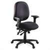 "Lorell High Performance Task Chair - Black Seat - Metal Frame - 5-star Base - Black - 20"" Seat Width x 20"" Seat Depth - 27.3"" Width x 25.3"" Depth x 41.5"" Height"
