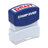 "Pre-inked Stamp - Message Stamp - ""DRAFT"" - 0.56"" Impression Width x 1.69"" Impression Length - 50000 Impression(s) - Red - 1 Each"