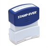 "Pre-inked Stamp - Message Stamp - ""ENTERED"" - 0.56"" Impression Width x 1.69"" Impression Length - 50000 Impression(s) - Blue - 1 Each"