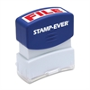 "U.S. Stamp & Sign Pre-inked Stamp - Message Stamp - ""FILE"" - 0.56"" Impression Width x 1.69"" Impression Length - 50000 Impression(s) - Red - 1 Each"