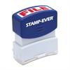 """U.S. Stamp & Sign Pre-inked File Stamp - Message Stamp - """"FILE"""" - 0.56"""" Impression Width x 1.69"""" Impression Length - 50000 Impression(s) - Red - 1 Each"""