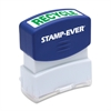 "Pre-inked Stamp - Message Stamp - ""RECYCLE"" - 0.56"" Impression Width x 1.69"" Impression Length - 50000 Impression(s) - Green - 1 Each"