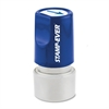 "Round Pre-inked Stamp - Design Stamp - ""ARROW(ICON)"" - 0.75"" Impression Diameter - 50000 Impression(s) - Blue - 1 Each"