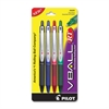 Vball Rolling Ball Pen - Fine Point Type - 0.7 mm Point Size - Refillable - Assorted - 4 / Pack
