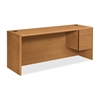 "10745R Credenza - 74"" x 24"" x 29.5"" - Single Pedestal on Right Side - Material: Wood - Finish: Harvest, Laminate"