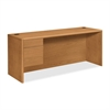 "10746L Credenza - 74"" x 24"" x 29.5"" - Single Pedestal on Left Side - Material: Wood - Finish: Harvest, Laminate"