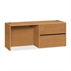 "HON 10747R Credenza - 72"" x 24"" x 29.5"" - 2 x File Drawer(s)Right Side - Material: Wood - Finish: Harvest, Laminate"