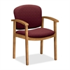 "HON Invitation 2111 Guest Chair - Fabric Wild Rose Seat - Wood Frame - Four-legged Base - Harvest, Wild Rose - 20"" Seat Width x 17.50"" Seat Depth - 22"" Width x 18.5"" Depth x 33.1"" Height"
