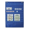 "Deluxe Money Pocket Chart - 7 Pocket(s) - 17"" Height x 12"" Width - Wall Mountable - Multi - Polyester - 1Each"