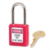 Safety Keyed Padlock - Steel Shackle, Xenoy Body - Red