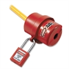 Master Lock 487 Rotating Safety Lockout - For Electrical Plug - Dielectric, Lightweight - Xenoy Thermoplastic Body - Red